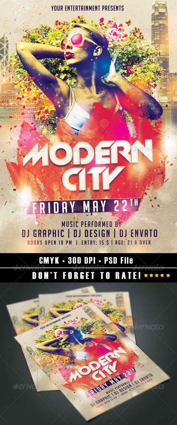 GraphicRiver Modern City Flyer 7361402