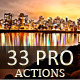 33 Pro Actions - GraphicRiver Item for Sale
