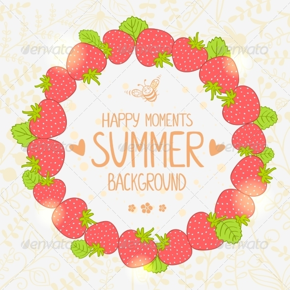 GraphicRiver Strawberry Wreath 7372289