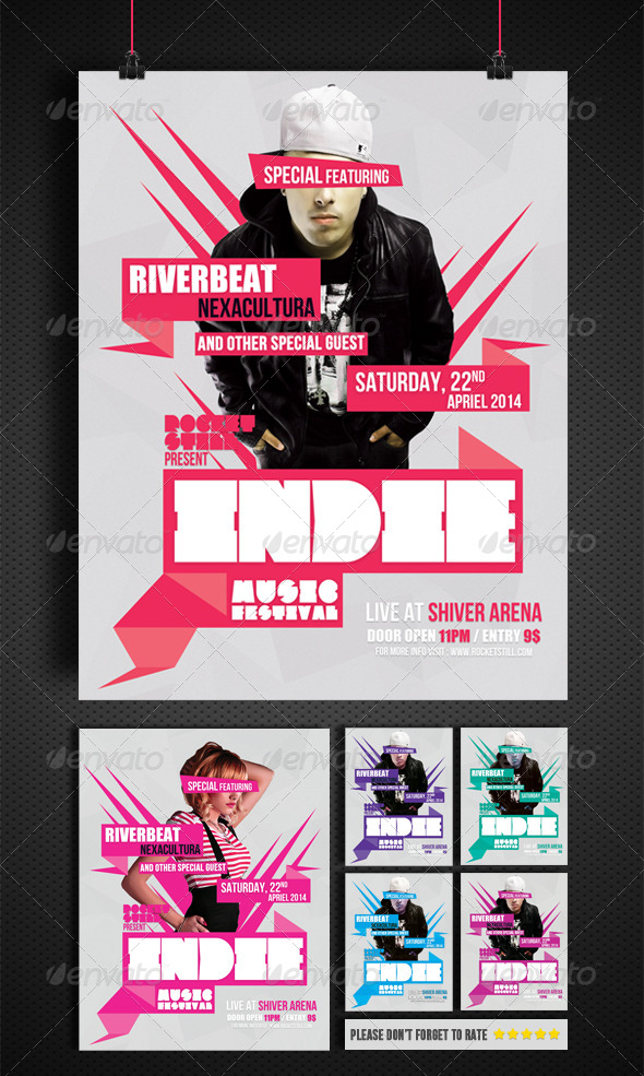 GraphicRiver INDIE MVN FLYER TEMPLATE 7372468