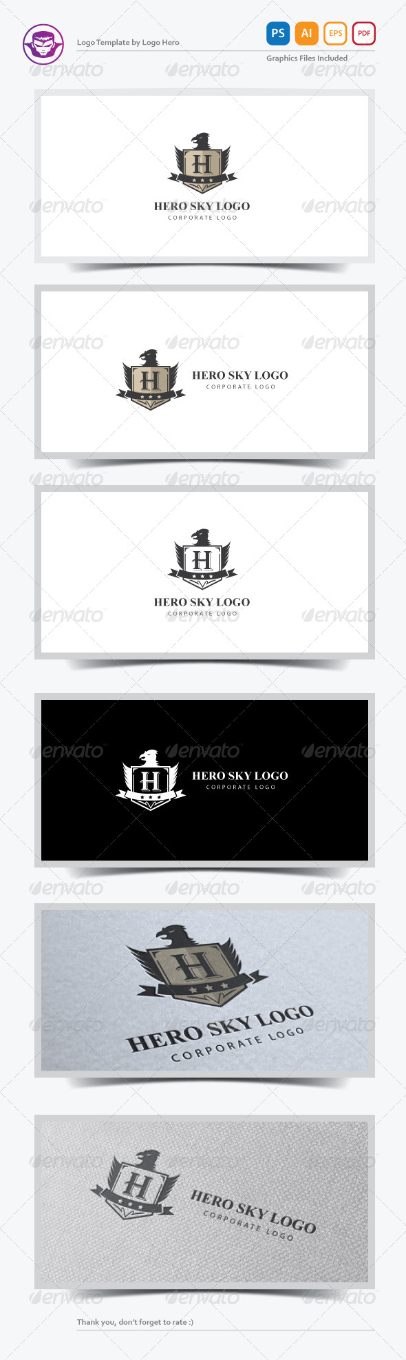 GraphicRiver Hero Sky Logo Template 7372903
