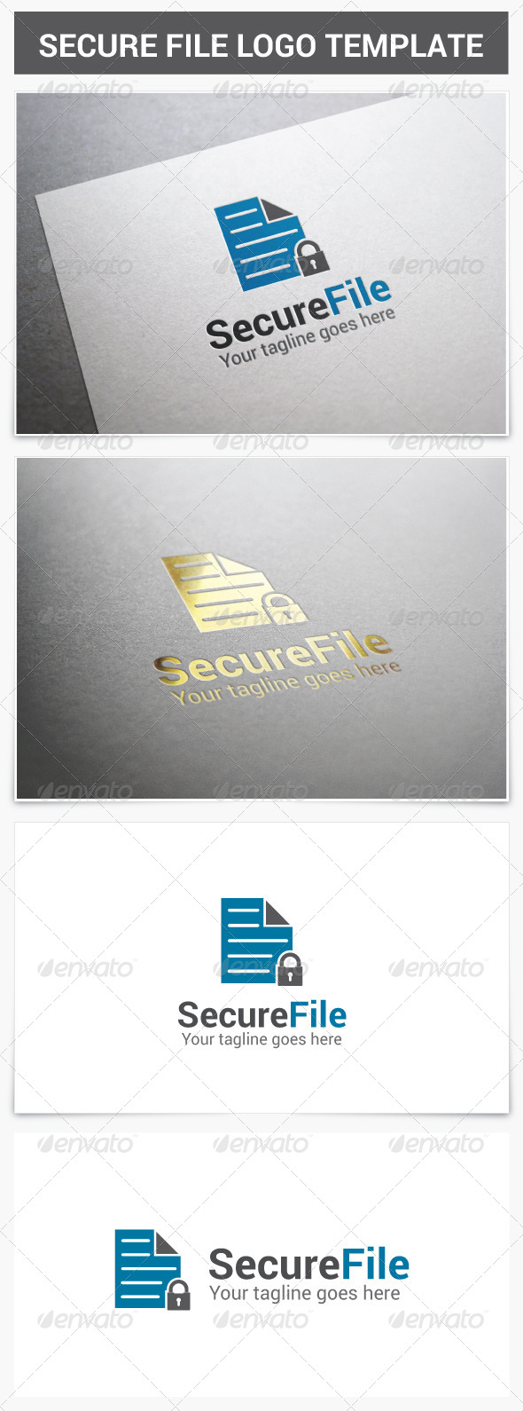 GraphicRiver Secure File Logo 7372949