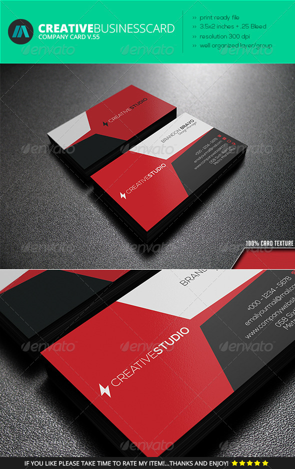 GraphicRiver IntenseArtisan Business Card Vol.55 7373403