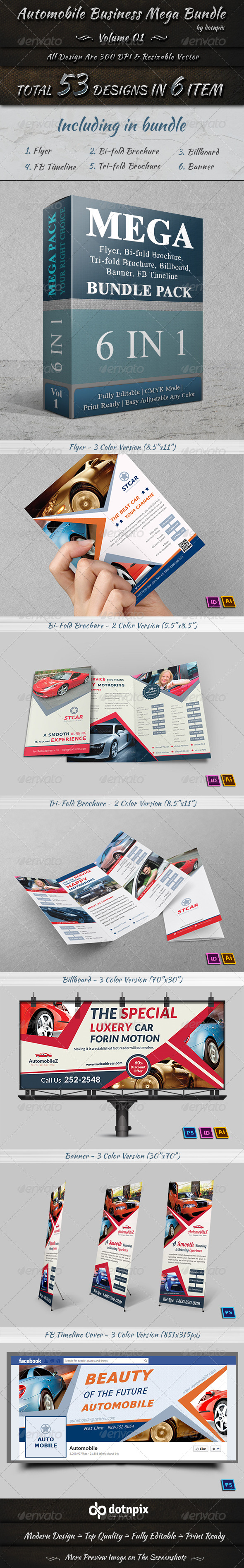 GraphicRiver Automobile Business Mega Bundle Volume 1 7373688