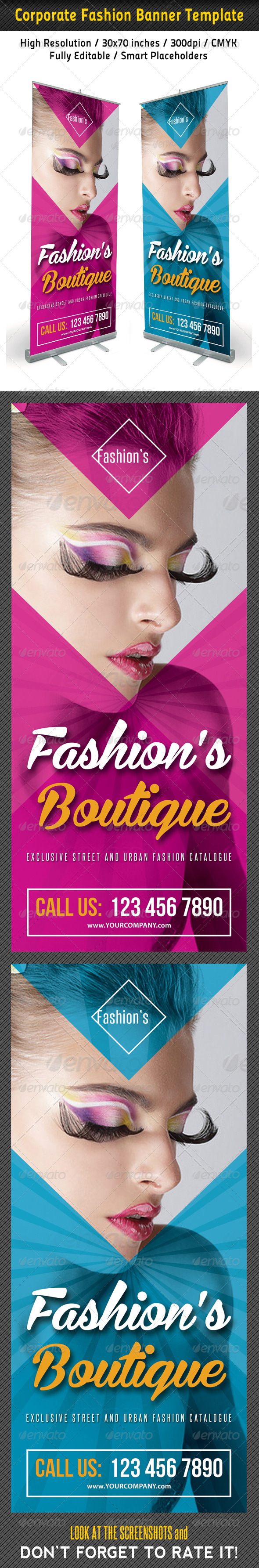 GraphicRiver Fashion Multipurpose Banner Template 40 7373904