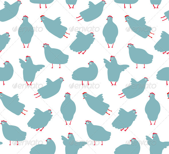 GraphicRiver Funny Hen Seamless Pattern Background 7351623