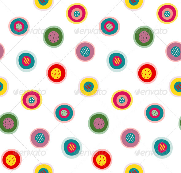 GraphicRiver Circles Doodles Abstract Pattern Background 7351585