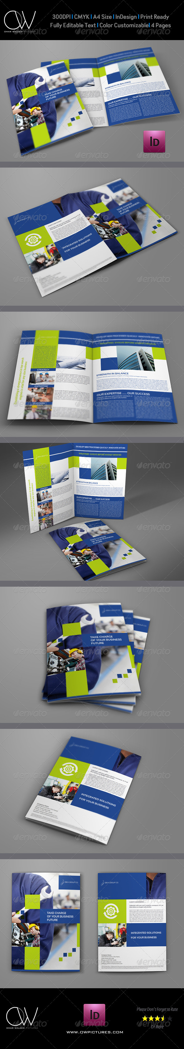GraphicRiver Company Brochure Bi-Fold Template Vol.22 7374158
