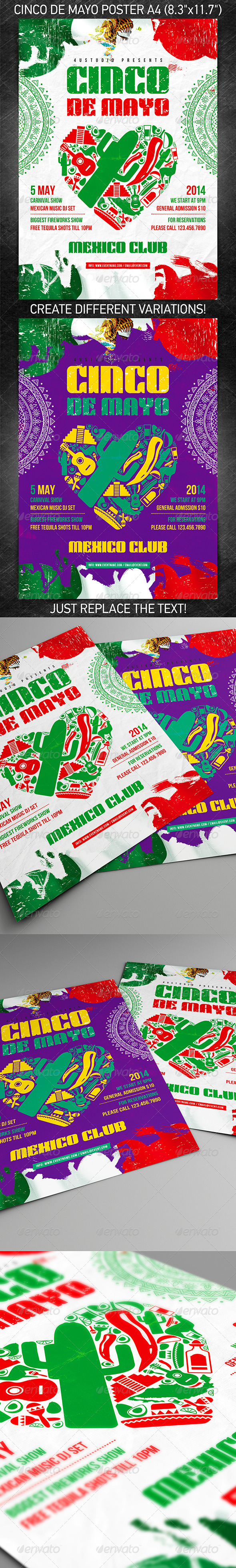 GraphicRiver Cinco de Mayo party poster 7374303