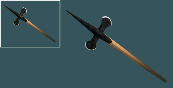 3DOcean Low Poly Halberd 7374309