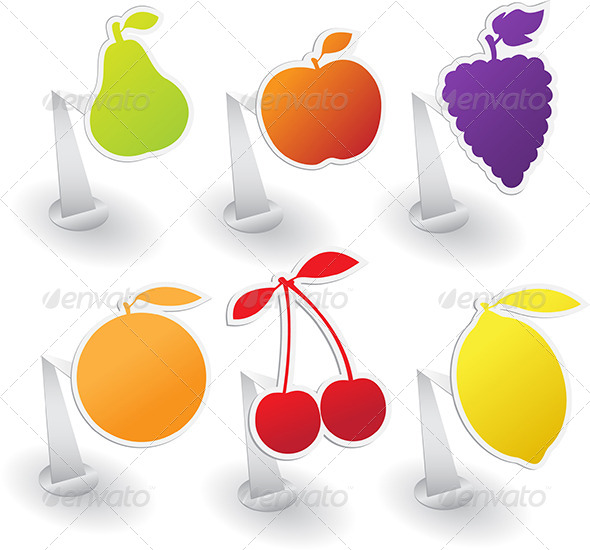 GraphicRiver Fruit Stickers 7374341