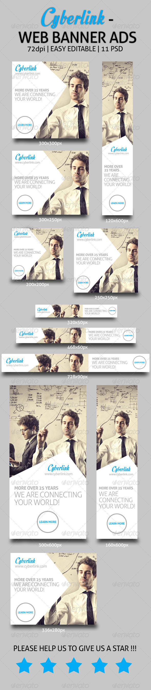 GraphicRiver Cyberlink Web Banner Ads 7358087
