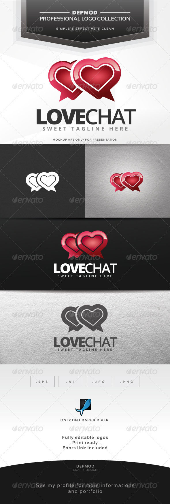 GraphicRiver Love Chat Logo 7374531