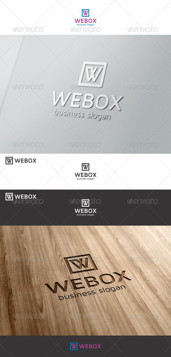 GraphicRiver Webox W Logo 7374533