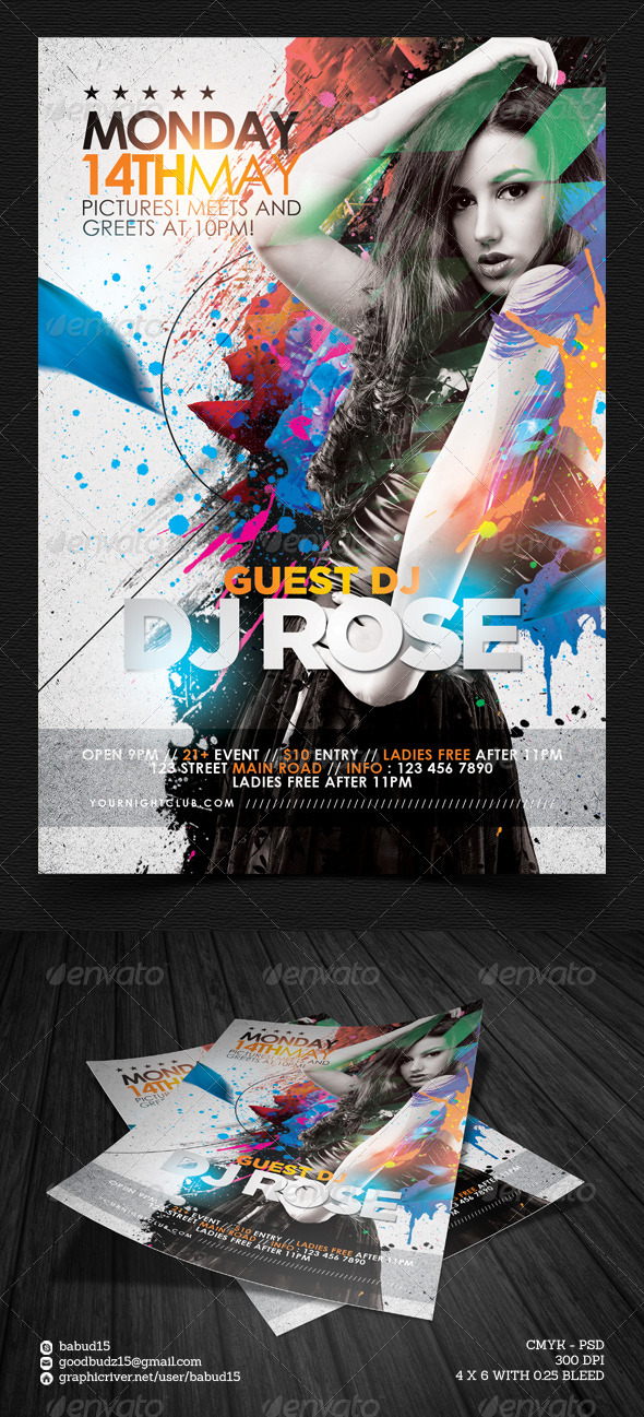 GraphicRiver Guest DJ Flyer Template 7361235
