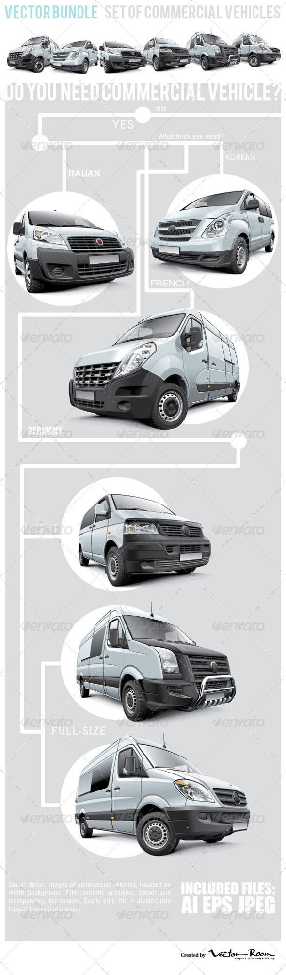 GraphicRiver Commercial Vehicles Bundle 7359063