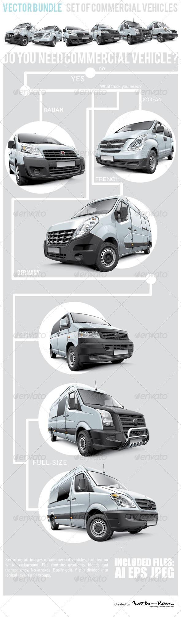 GraphicRiver Commercial Vehicles Bundle 7359063