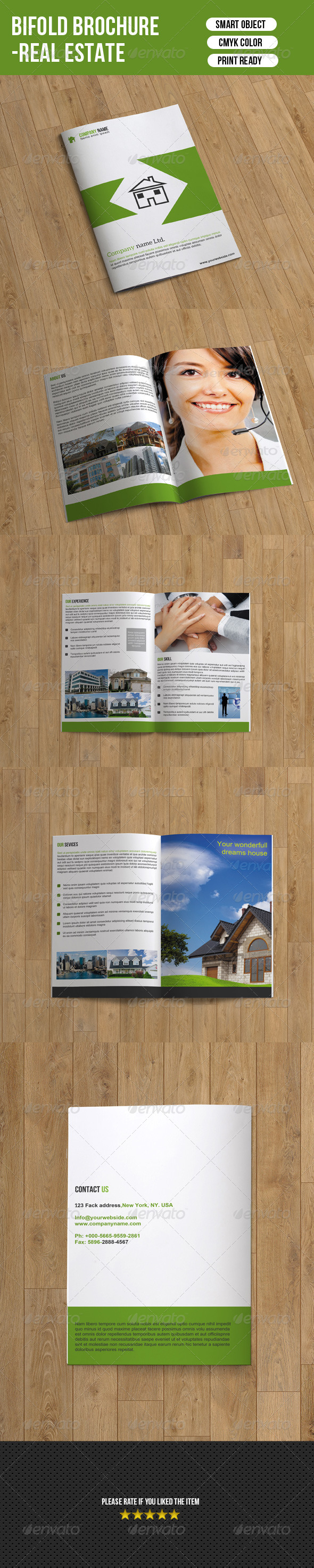 GraphicRiver Bifold Real Estate Brochure 7374889