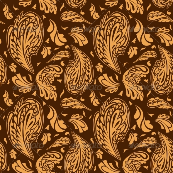 GraphicRiver Seamless Pattern with Floral Ornament 7375360