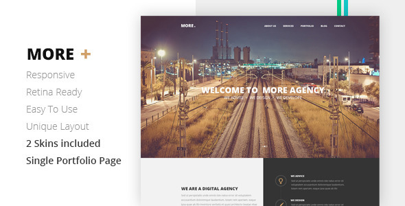 ThemeForest MORE Creative One Page Template 7303562
