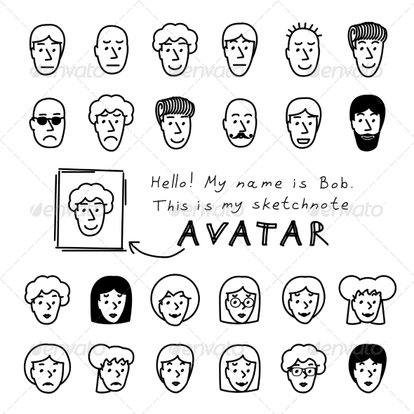 GraphicRiver Sketchnote Avatars 7375655