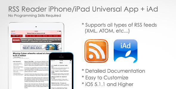 CodeCanyon RSS Reader for iPhone iPad & iAd 7143270
