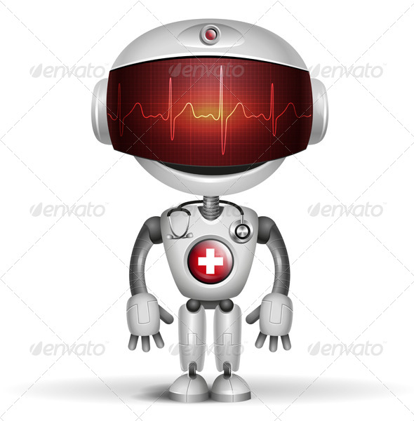 GraphicRiver Robot Doctor with Stethoscope 7375801