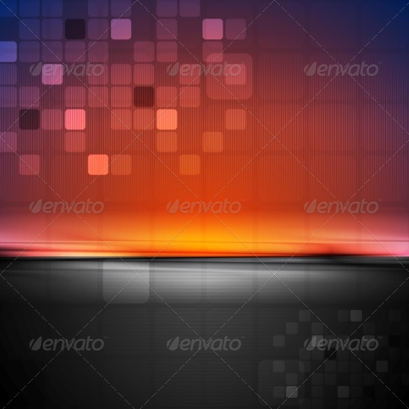 GraphicRiver Colorful Abstract Tech Background 7376007