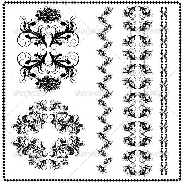 GraphicRiver Calligraphic Patterns 7376022