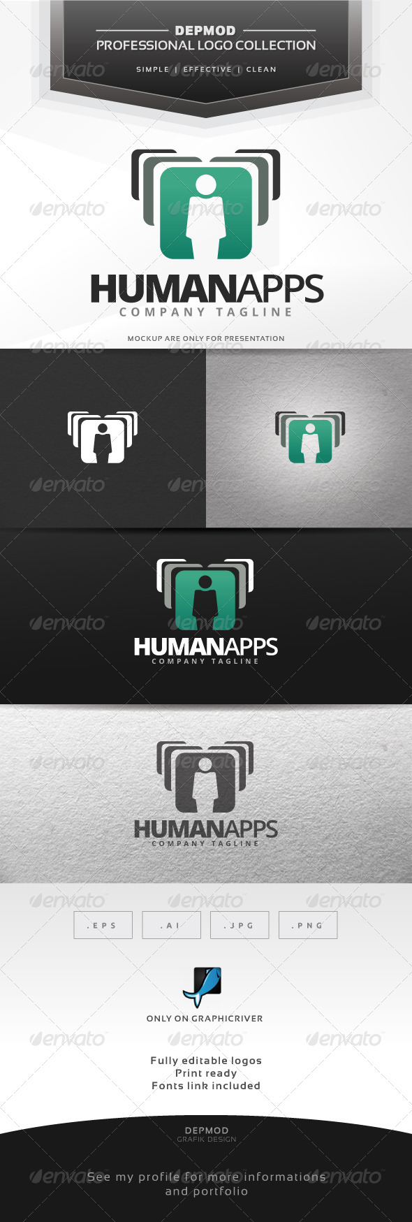 GraphicRiver Human Apps Logo 7376055