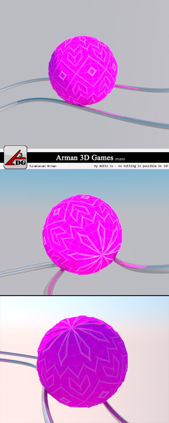 3DOcean Roll Ball lilac 7376096