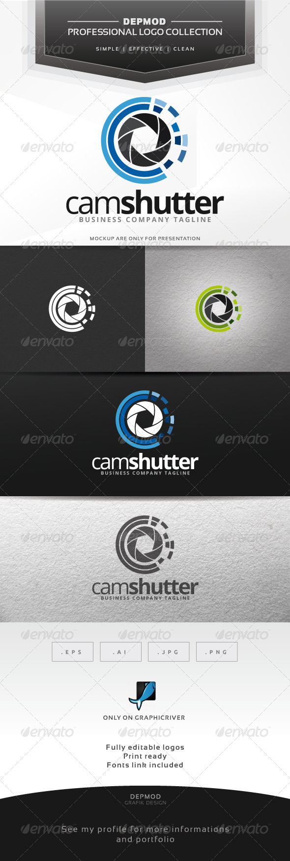 GraphicRiver Cam Shutter Logo 7376153