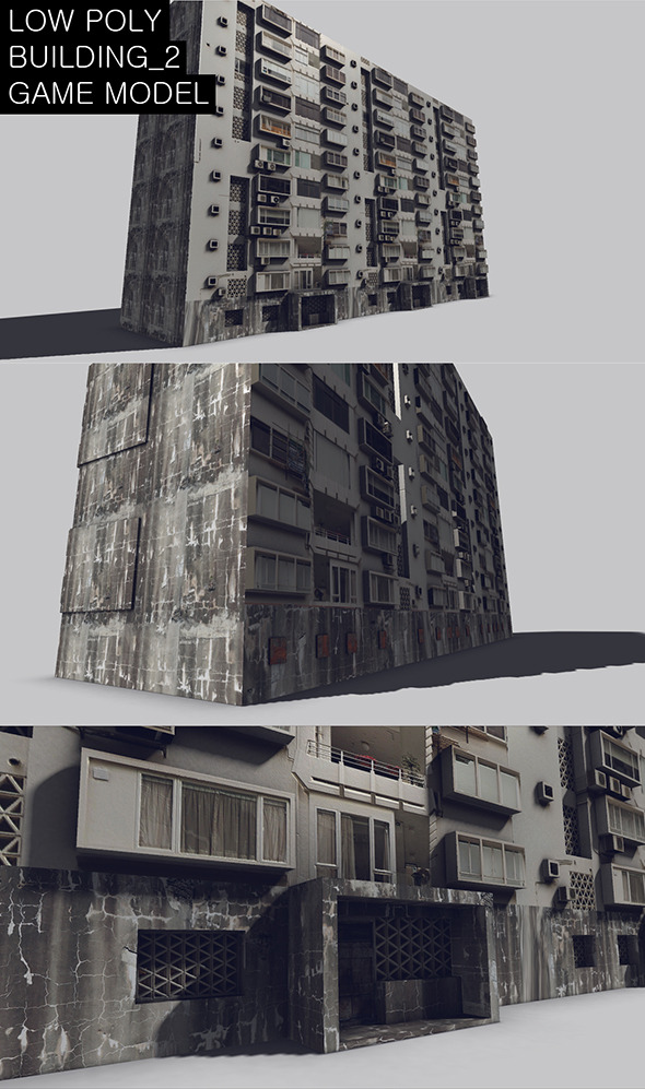 3DOcean Low Poly Building 2 Game Model 7376233