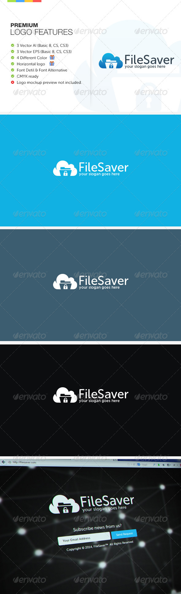 GraphicRiver File Saver Logo 7376469