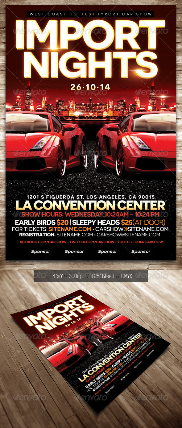 Car Show Flyer Vector Graphicriver Car Show Flyer