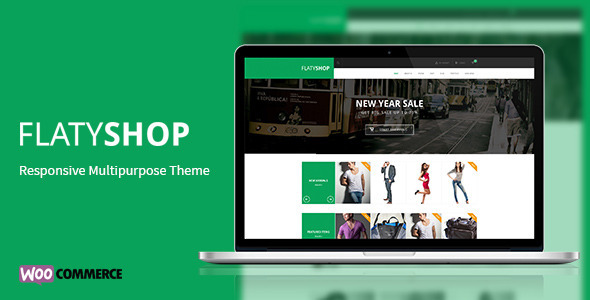 ThemeForest FlatyShop Responsive Multipurpose WP Theme 7376612