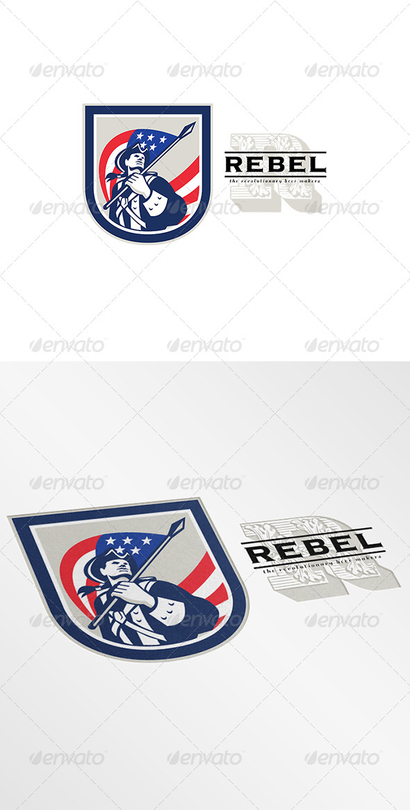 GraphicRiver American Rebel Beer Makers Logo 7376619