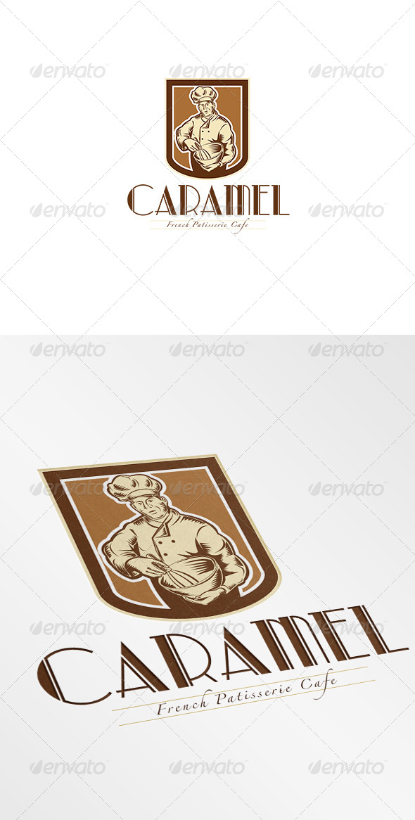 GraphicRiver Caramel French Patisserie Cafe Bakeshop Logo 7376627