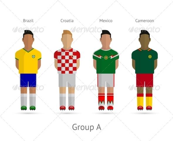 GraphicRiver Football Players Team 7376670