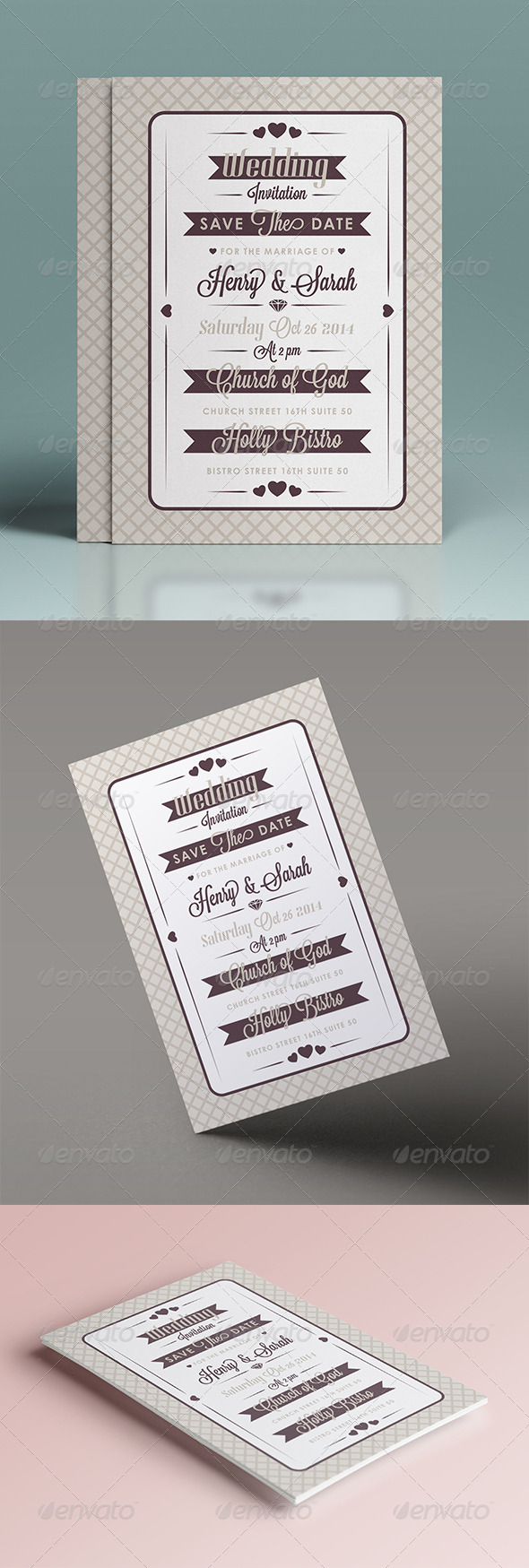 GraphicRiver Wedding Invitation 7376699