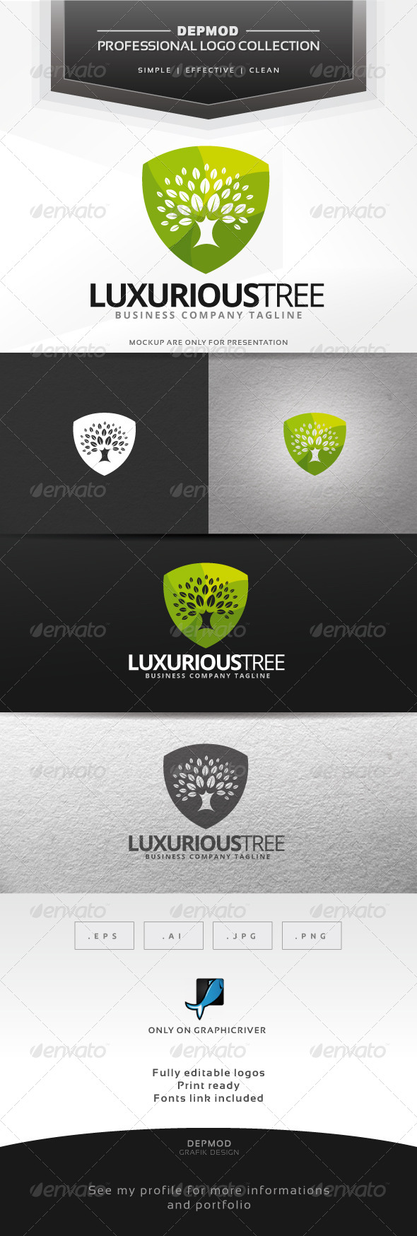GraphicRiver Luxurious Tree Logo 7376709