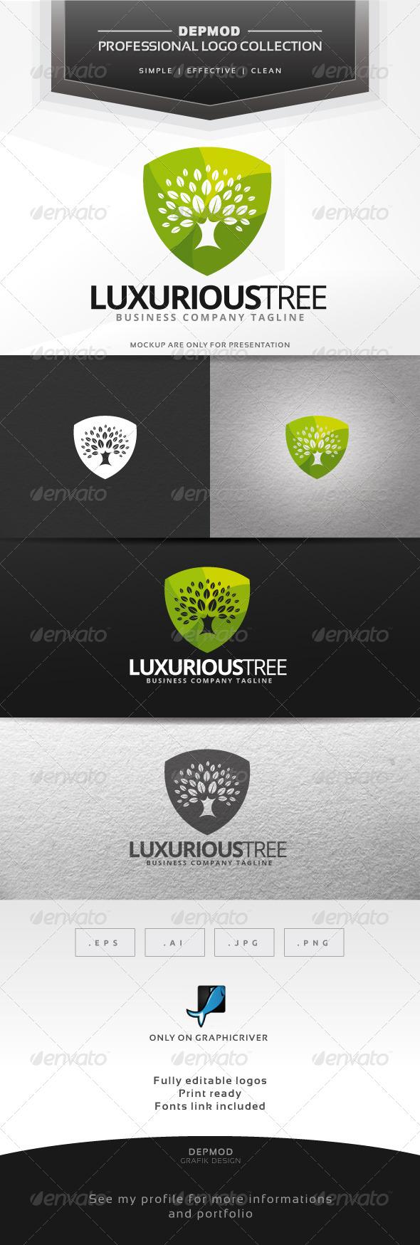 GraphicRiver Luxurious Tree Logo 7376709