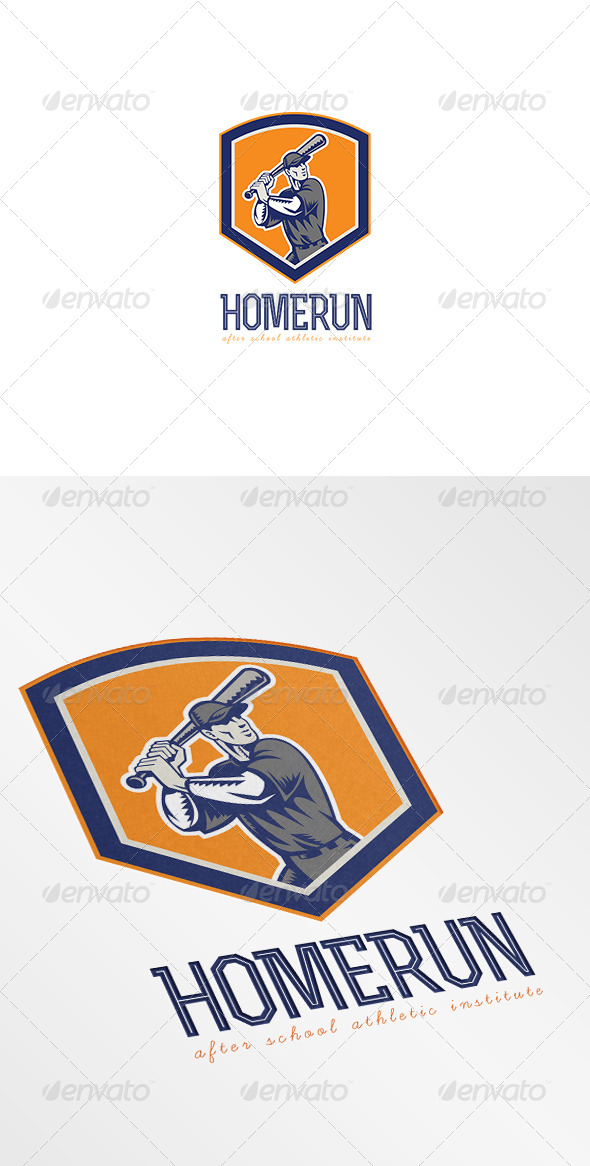 GraphicRiver Homerun Athletic Institute Logo 7376921