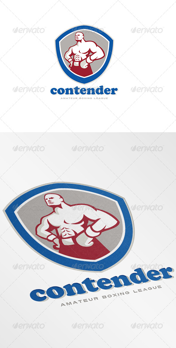 GraphicRiver Contender Amateur Boxing League Logo 7376924