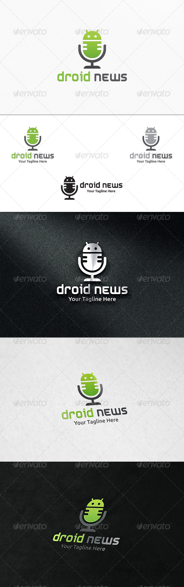 GraphicRiver Droid News Logo Template 7376928