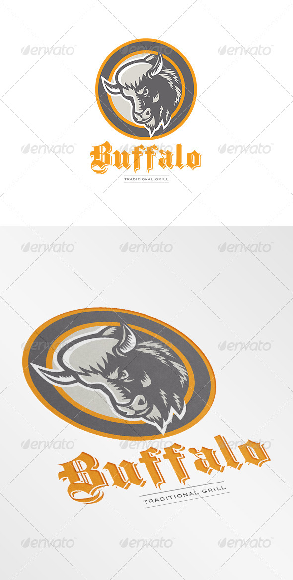 GraphicRiver Buffalo Traditional Grill Logo 7376929