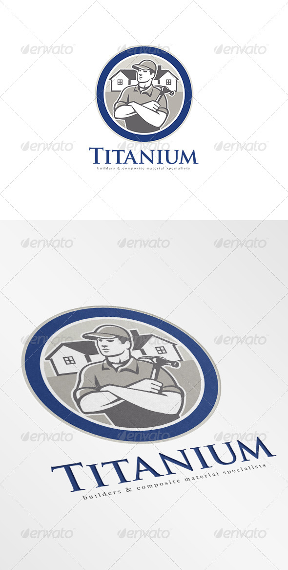 GraphicRiver Titanium Builders and Construction Logo 7376935