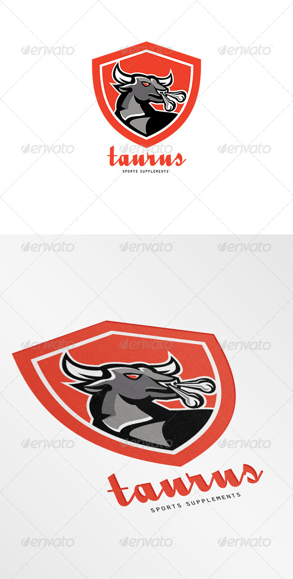 GraphicRiver Taurus Sports Supplements Logo 7376945