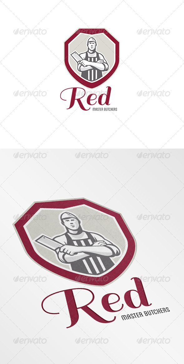 GraphicRiver Red Master Butchers Logo 7376948