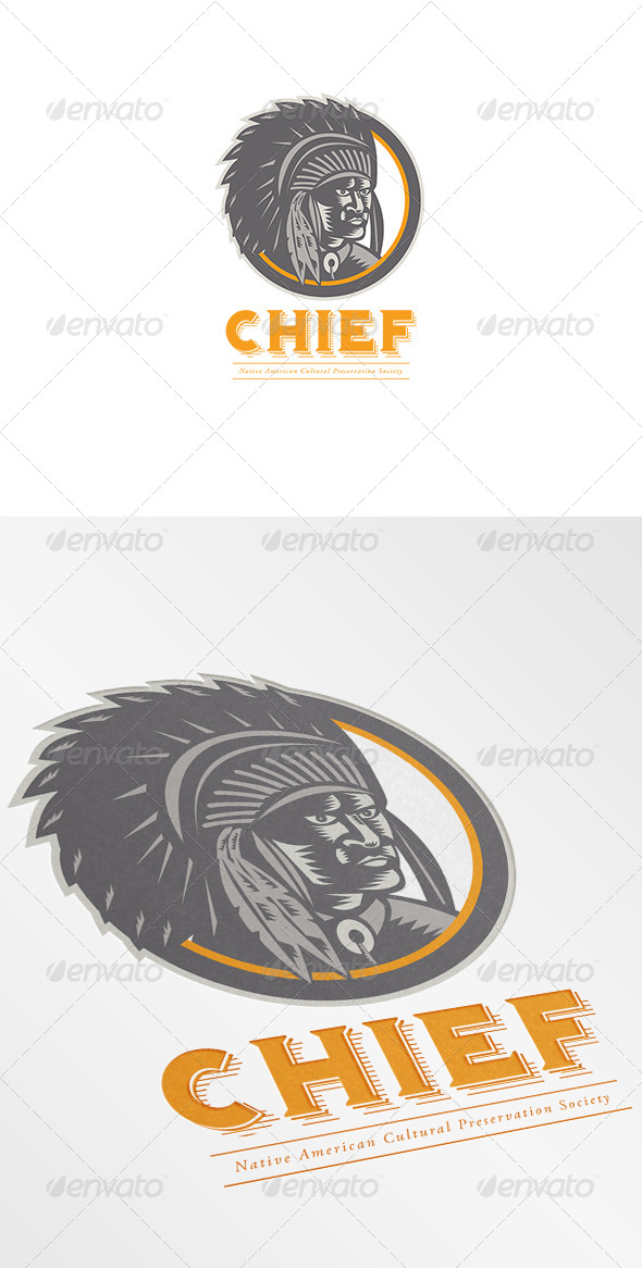 GraphicRiver Chief Native American Society Logo 7376961